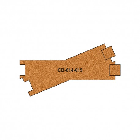 CB-614-5 Pre-Cut Cork Bed for UK Geometry Tracks