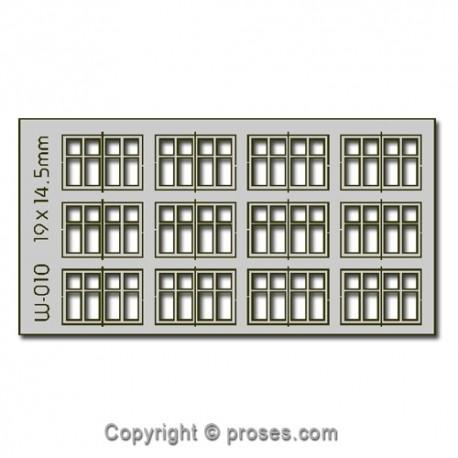 12 pcs 19X14.5mm 4 Pane Dbl Unit Windows HO/OO