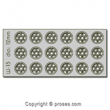 18 pcs 12mm Diameter Round Windows HO/OO