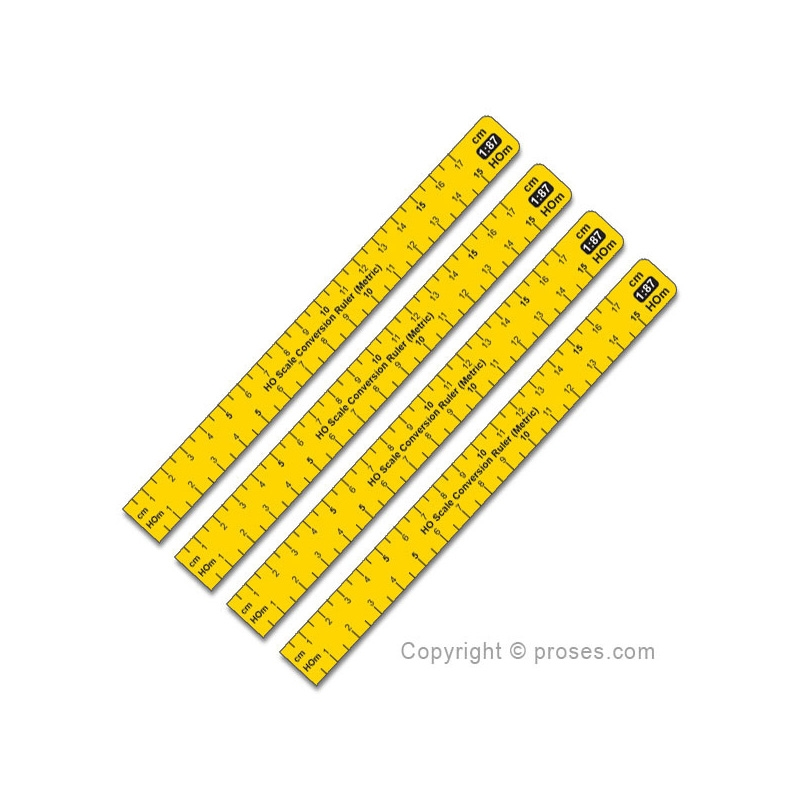 1:87 Scale Conversion Ruler (Metric) HO - Proses Hobby Shop