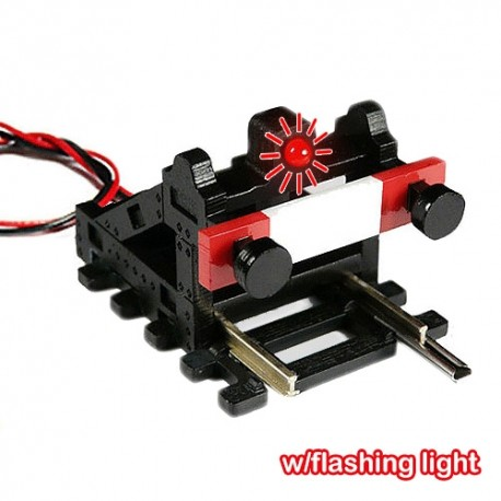 HO/OO Buffer Stop with Flashing Light (Black)