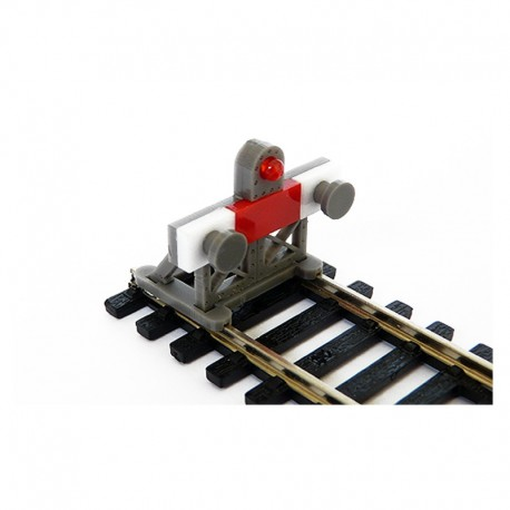 2 X HO Scale Laser-Cut Buffer Stop Kit w/Light