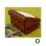 O Scale 2 X Wooden Buffer Stop Kit