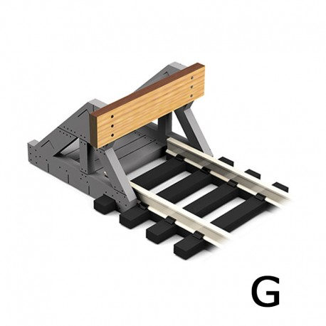 2 X G Scale Buffer Stops w/Wooden Plates