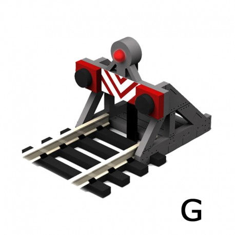 2 X G Scale Buffer Stops w/Lights