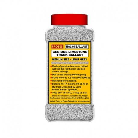 1.4 Kg (3 lbs) Authentic Limestone Ballast HO/OO (Light Grey)