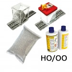 HO/OO Ballasting Kit w/Gluer (Light Grey)