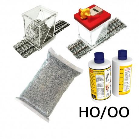 HO/OO Ballasting Kit w/Gluer (Grey Blend)