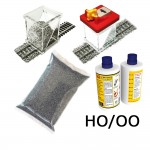 HO/OO Ballasting Kit w/Gluer (Dark Grey)