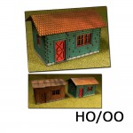 HO/OO 2 X Laser-Cut Cottages Kit