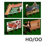 HO/OO 4 X Laser-Cut Billboards Kit No:2