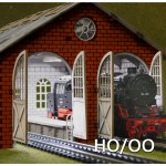 HO/OO Laser-Cut Double Engine Loco Shed Kit