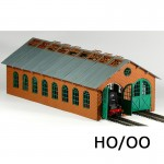 HO/OO Laser-Cut Double Engine Loco Shed Kit (Long)