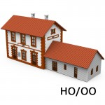 HO/OO Village Station Kit