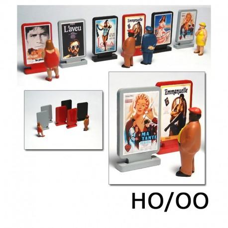 HO/OO 6 X Movie Billboards