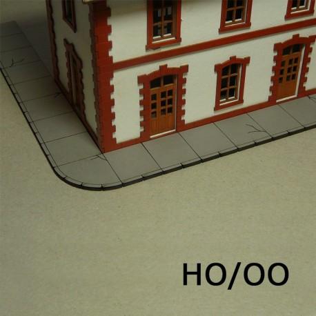 HO/OO Laser-Cut Sidewalks (Concrete)