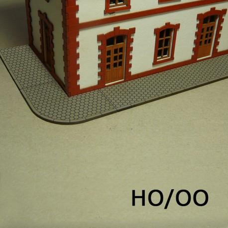 HO/OO Laser-Cut Sidewalks (Hexagon)