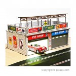 Retro Type Double Pit Stop Kit w/Light and Sliding Doors