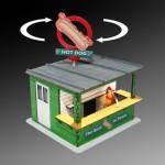 Illuminated Hot Dog Stand Kit w/Rotating Banner