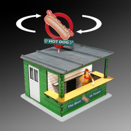 Illuminated Hot Dog Stand Kit w/Rotating Banner