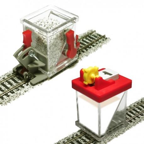 HO/OO Advanced Ballast Spreader Car and Glue Applicator Set