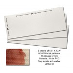 3D Embossed PVC Sheets (Brick Pattern)