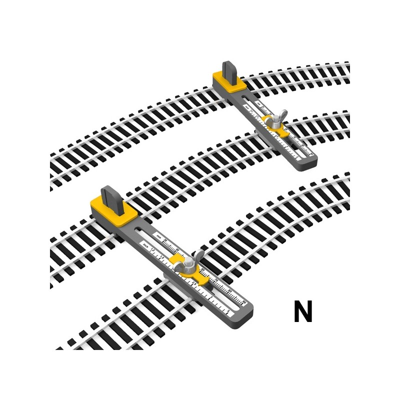 N Scale Adjustable Parallel Track Tool Proses Hobby Shop