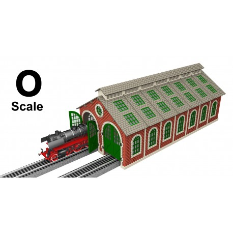O Scale Laser-Cut Double Engine Loco Shed Kit