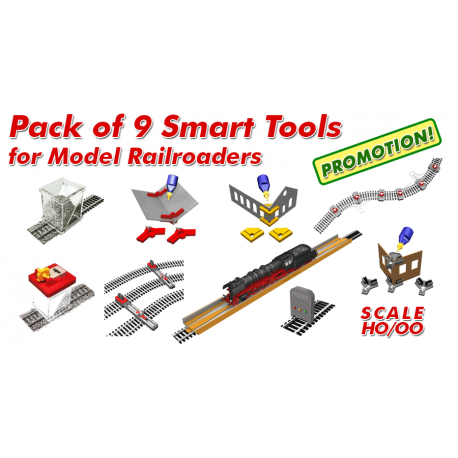 HO/OO Pack Of 9 Smart Tools