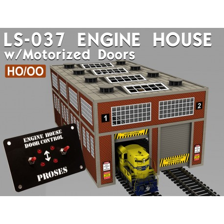 HO Scale Laser-Cut Double Engine Loco Shed Kit