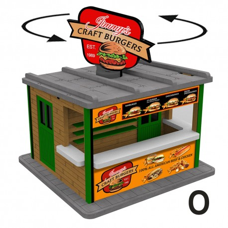 O Scale Burger Booth
