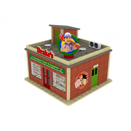 O Scale Hardware Shop w/Rotating Banner