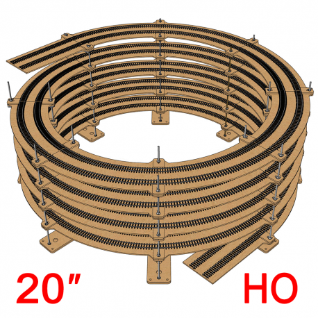 """20"""" Single/Double Helix (R:18"""" to R:22"""")"""