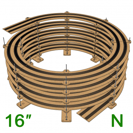 "16"" N Scale Single/Double Helix (R:18"" to R:22"")"