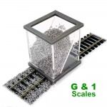 G and 1 scale ballast spreader.