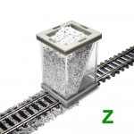 Z Scale Ballast Spreader