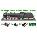 6 X O Gauge (2-rail/3-rail) Rollers and Cleaners
