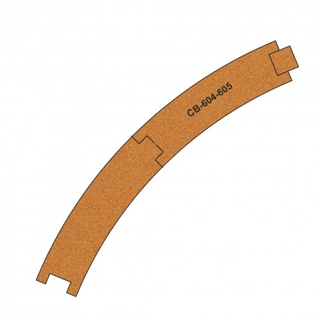 Pre-Cut Cork Beds for UK Geometry Tracks