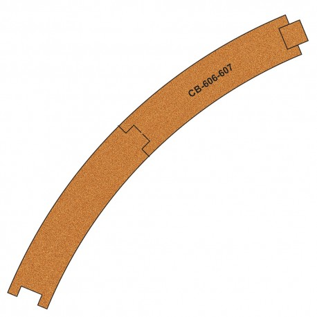 CB-606-7 Pre-Cut Cork Bed for UK Geometry Tracks