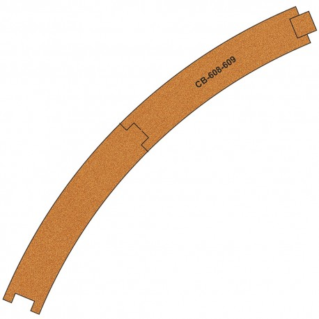 CB-608-9 Pre-Cut Cork Bed for UK Geometry Tracks